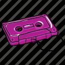 audio device, cassette, cassette tape, magnetic tape., vintage cassette icon