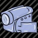camcorder, digital camera, handycam, polaroid camera, video camera, video shooting icon