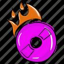 burning disc, burning disk, cd burn, disco burning, record burning icon