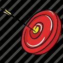 archery, bullseye, dartboard, objective, sports, target board icon