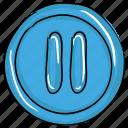 media button, media option, pause button, play button, rewind button, stop button icon