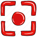 camera focus, crosshair, focus selector, focus square, focus tool, graphic designing icon