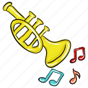 brass, marching band, music instrument, orchestra, trumpet icon