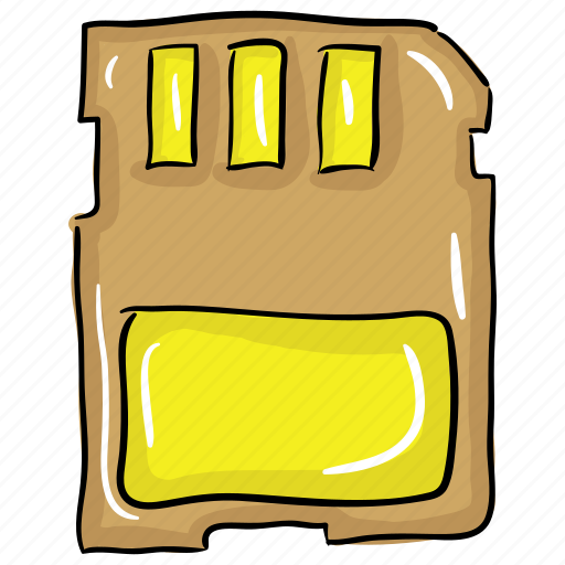 flash memory, memory card, memory chip, microchip, sd card icon