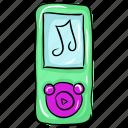 ios device, ipod, listening music, music player, walkman icon