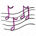 music, music notes, musical notation, musical symbol, songs concept icon