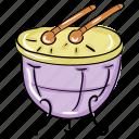 drum, hand drum, musical instrument, percussion, rattle drum, snare drum icon