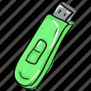 electronic hardware, flash drive, portable usb, universal serial bus, usb, usb storage icon