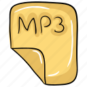 mp3 music document, music file, music page, song list, songs list icon