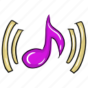 music, music note, musical notation, musical symbol, songs concept icon