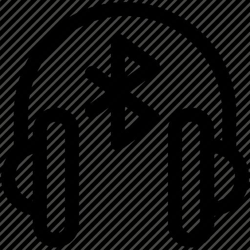 Bluetooth, bluetooth headphones, connect, headphones, multimedia, speaker, wireless icon - Download on Iconfinder
