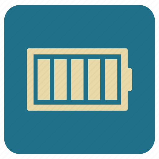 battery, full, multimedia, vintage icon