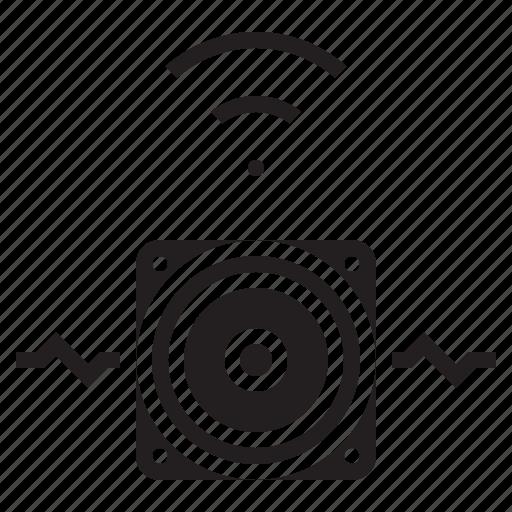 audio, multimedia, music, sound, wireless icon