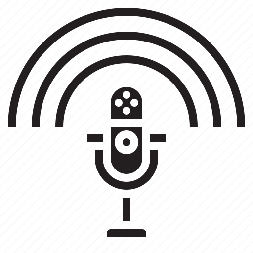 microphone, multimedia, news, podcast, speech icon
