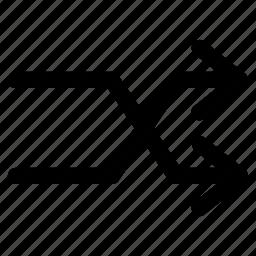 arrows, music, random, shuffle, sound icon