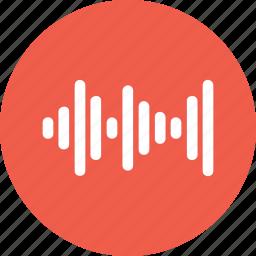 analyze, music, sound, wave icon