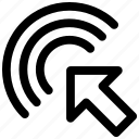 arrow, click, cursor, double click icon icon
