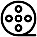 bobbine reel, camera reel, film stip, multimedia, reel, sound, tape reel icon icon