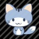 cat, emoji, happy, joy, please, smile, sticker