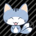 cat, emoji, happy, joy, laugh, smile, sticker