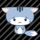 anxiety, cat, emoji, regret, sad, sticker, unhappy