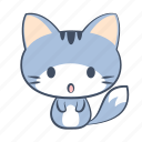 cat, unexpect, emoji, astonish, sticker, surprised, shock icon