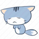 anxiety, cat, emoji, sad, sorrow, sticker, unhappy