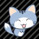 bow, cat, emoji, happy, smile, sticker, thank