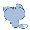 cat, down, emoji, sad, sorrow, sticker, unhappy