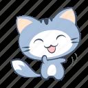 cat, dance, emoji, happy, joy, laugh, sticker