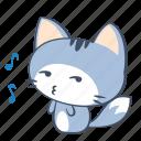 cat, emoji, ignore, music, pretend, sticker, whistle icon