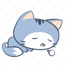 bored, cat, emoji, sigh, sleep, sticker, tired