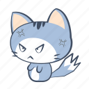 cat, crazy, emoji, furious, mad, rage, sticker