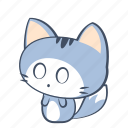 scared, cat, emoji, sticker, surprised, frighten, fearful icon