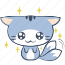 smile, cat, emoji, sticker, eye, puppy, happy icon