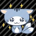 cat, emoji, eye, happy, puppy, smile, sticker