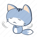 angry, annoyance, cat, emoji, hostility, mad, sticker