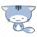 scared, cat, emoji, sticker, frowning, sad, disgust icon