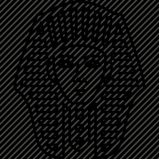 egyptian, face, giza, pharaoh icon