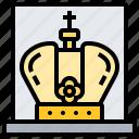 crown, exhibit, museum, nation, treasure icon