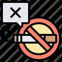 forbidden, no, prohibit, sign, smoking