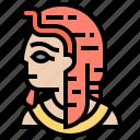 ancient, egypt, king, mask, pharaoh icon