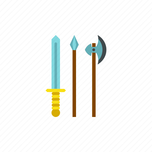 ancient, battle, medieval, spear, sword, war, weapon icon
