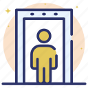 aviation security, checkpoint, control check, door security, gate checkpoint, security check icon