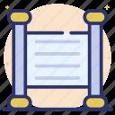 letter map, mezuzah, old message, paper parchment, scroll message, vintage message icon