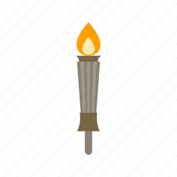 architecture, building, lamp, light, museum, torch, travel icon