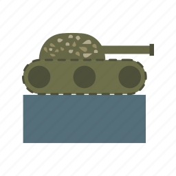 army, green, military, monument, museum, tank, war icon