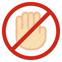 dont, prohibited, prohibition, signal, signaling, smartphone, touch icon