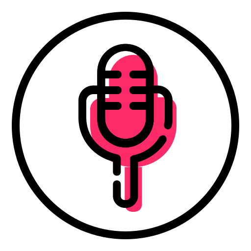 funnel, microphone, mike, shaft, speaker icon
