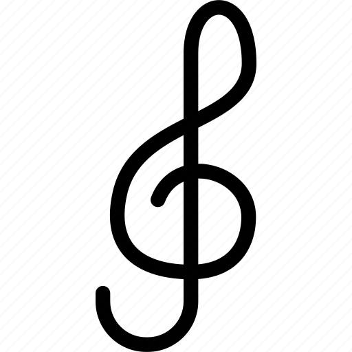 clef, creative, grid, instrument, key, music, notation, note, shape, sing icon